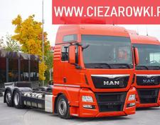 MAN container chassis TGX 26.440 , E6 , 6x2 , Low deck MEGA , cab XXL , chassis 7,4m ,