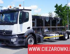 Mercedes-Benz container chassis Antos 1824 , E6 , BDF , 70K km ! , Low deck , hydraulic lift ,